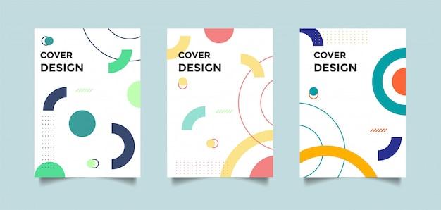 Forme geometriche copertina astratta
