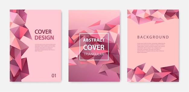 Modello di copertina astratta con design