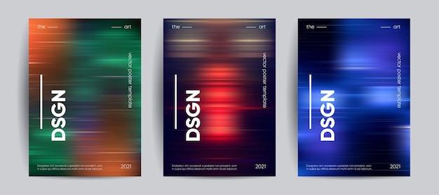 Copertine astratte con gradiente di movimento colori sfocati