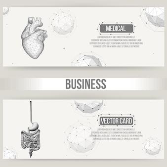 Fondo di vettore di concetto creativo astratto del cuore umano. carta intestata e brochure in stile design poligonale per affari. illustrazione vettoriale eps 10 per il tuo design.