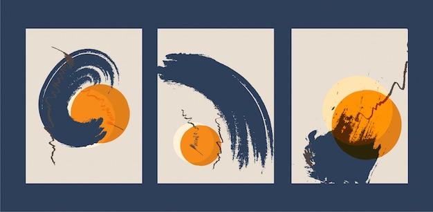 Illustrazione dipinta a mano minimalista creativa astratta per la decorazione della parete