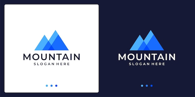 Logo di montagna creativo astratto a colori. premio di vettore.