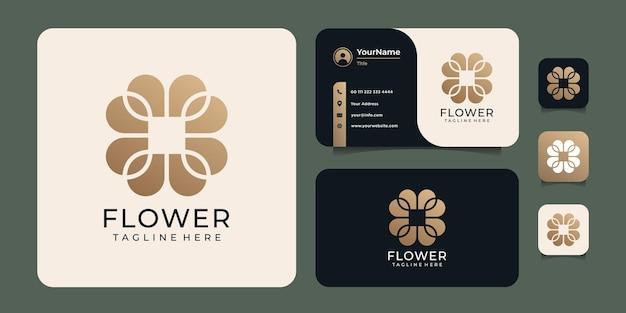 Logo astratto creativo della natura del fiore della stazione termale
