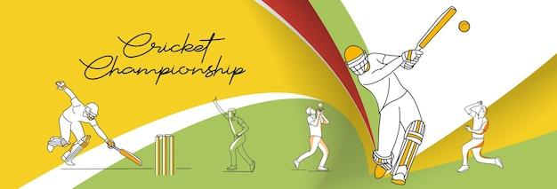 Fondo astratto di campionato di cricket illustrazione della lega di cricket.