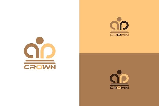 Vettore astratto del logo della corona adatto per legali, forze dell'ordine, avvocati, avvocati, studi legali