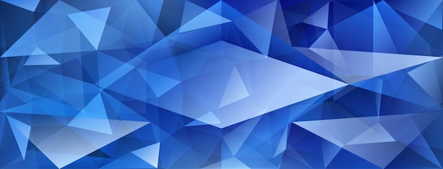 Sfondo di cristallo astratto con rifrazione della luce e punti salienti nei colori blu