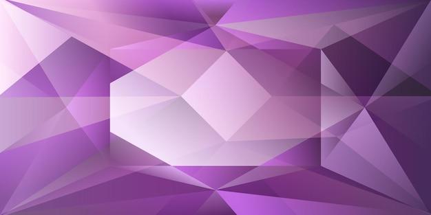 Sfondo di cristallo astratto con luce rifrangente e punti salienti in colori viola