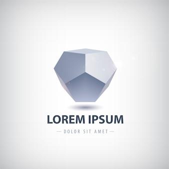 Logo geometrico cristallo astratto