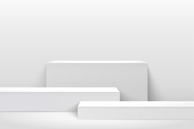 Esposizione astratta del cubo per la presentazione del prodotto