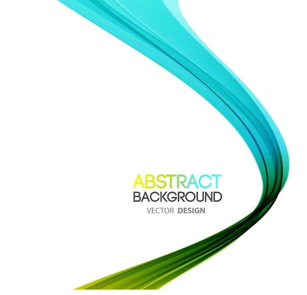 Sfondo astratto linee curve. design brochure modello