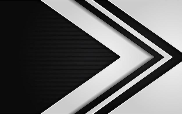 Combinazione astratta di sfondo scuro con sfumatura bianca Vettore Premium