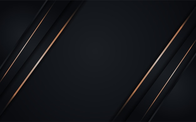 Combinazione di sfondo scuro astratto con elemento di linea oro
