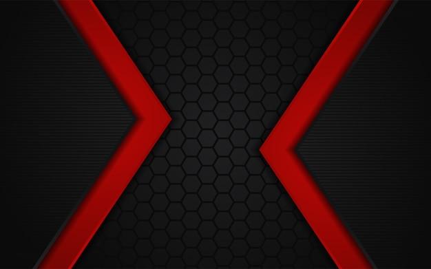 Sfondo scuro astratto con linea rossa