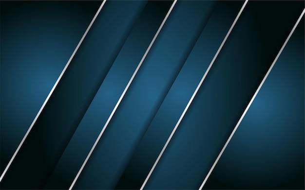 Astratto sfondo blu scuro con linea metallica