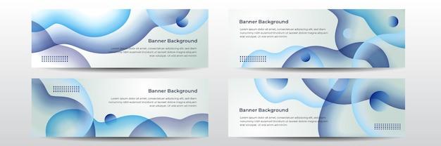 Illustrazione di sfondo largo blu scuro astratto con decorazione di elementi d'onda