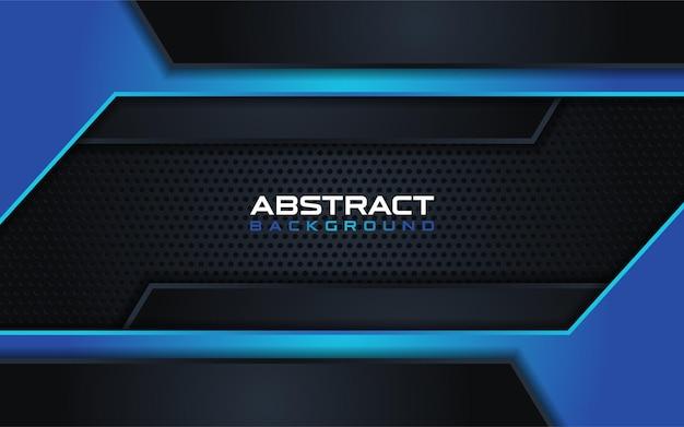 Astratto blu scuro con sfondo blu combinazione di linea