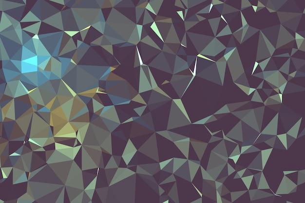 Molecola e comunicazione geometriche astratte del fondo poligonale marrone scuro. concetto di scienza, chimica, biologia, medicina, tecnologia.