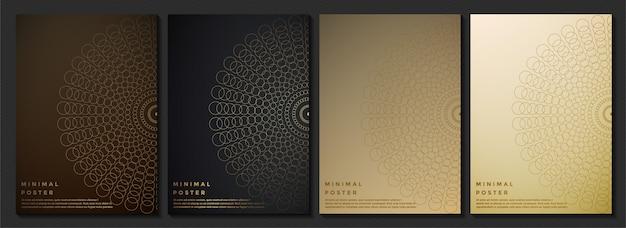 Struttura astratta del modello di colore scuro per il modello di copertina del libro