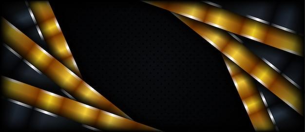 Priorità bassa strutturata metallica dorata scura astratta