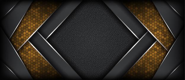 Fondo metallico grigio scuro astratto con la linea d'argento