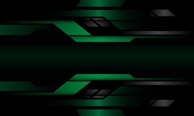 Fondo futuristico moderno grigio verde scuro astratto di progettazione geometrica metallica geometrica del circuito.