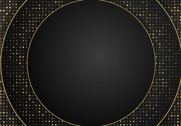 Fondo metallico scuro astratto di sovrapposizione. sfondo 3d astratto di lusso con una combinazione di poligoni luminosi in stile 3d. decorazione elemento di design grafico luccica puntini.