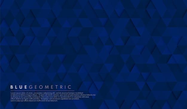 Fondo geometrico di forma esagonale blu navy scuro astratto.