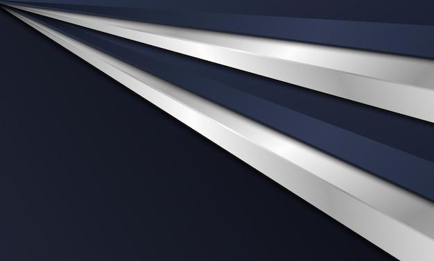 Triangolo scuro astratto della marina e fondo metallico d'argento. illustrazione vettoriale.