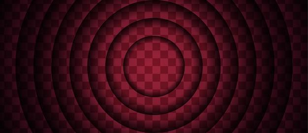 Priorità bassa rosso scuro astratta con i dettagli del cerchio