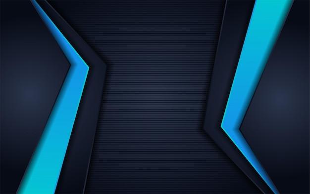 Astratto scuro con sfondo di linea di trama con linea blu
