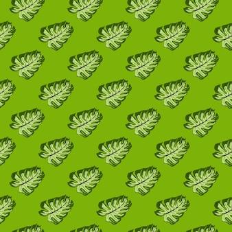 Modello senza cuciture decorativo astratto con l'ornamento di monstera della giungla. sfondo tropicale. fondale decorativo per il design del tessuto, stampa tessile, avvolgimento, copertina. illustrazione vettoriale.