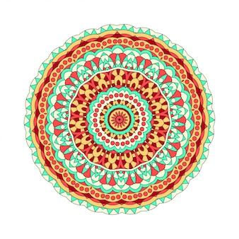 Elemento di disegno astratto. mandala tondo in vettoriale. modello grafico per il tuo design. ornamento decorativo retrò