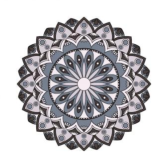 Elementi di disegno astratto mandala rotondi nel vettore. modello grafico per il tuo design. ornamento decorativo retrò