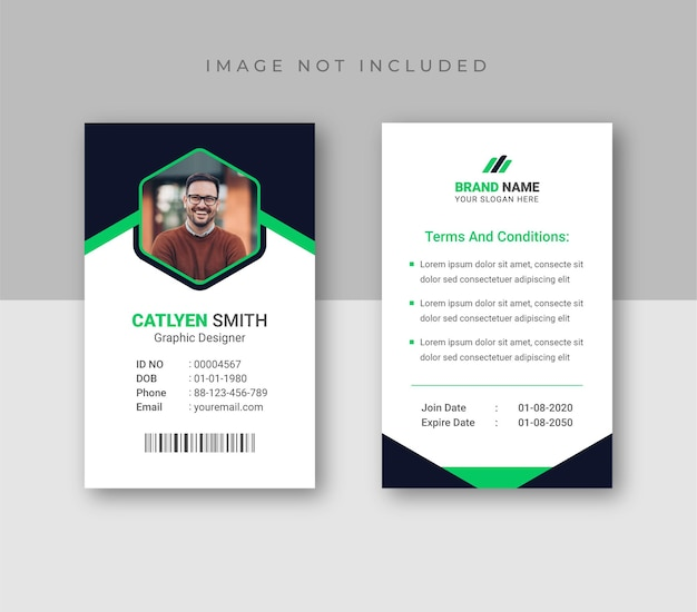 Modello di progettazione di carte d'identità di design astratto