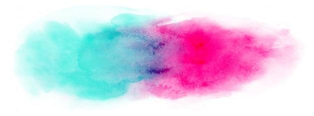 Disegno astratto splatter acquerello dipinto a mano su sfondo bianco