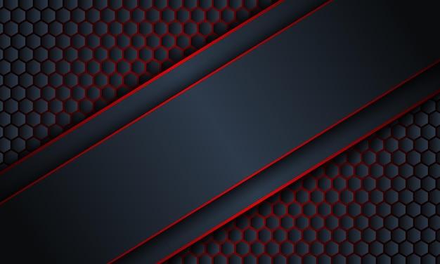 Striscia blu scuro diagonale astratta con sfondo di linee rosse illustrazione vettoriale