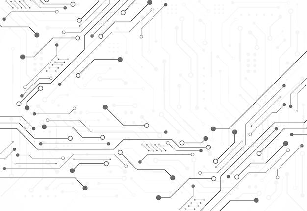 Fondo digitale astratto con struttura del circuito di tecnologia. illustrazione della scheda madre elettronica. comunicazione e concetto di ingegneria. illustrazione vettoriale