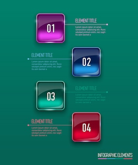 Illustrazione digitale astratta infografica.