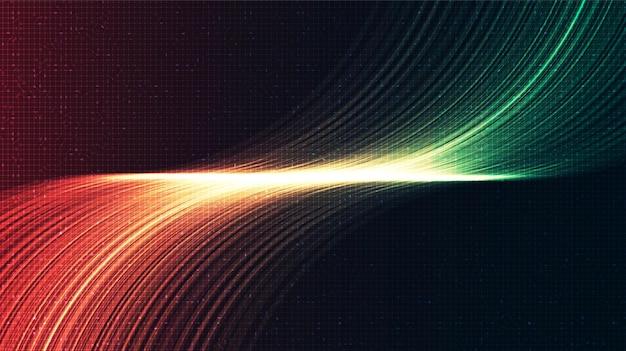Sfondo astratto tecnologia luce digitale