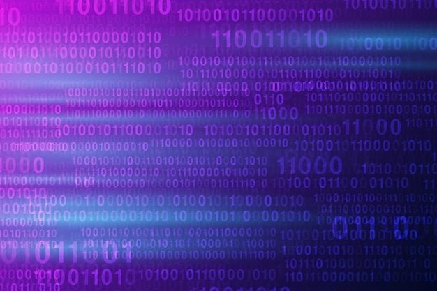 Numeri digitali astratti fondo blu tecnologico alta tecnologia. illustrazione vettoriale eps 10.