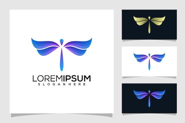 Logo astratto libellula