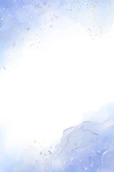 Priorità bassa dell'acquerello liquido blu polveroso astratto