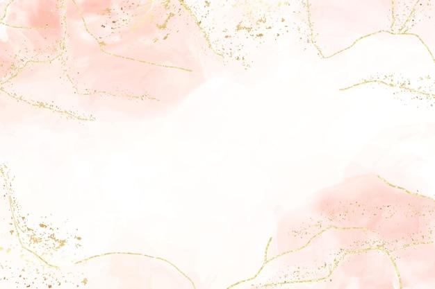 Fondo polveroso astratto dell'acquerello del blush liquido