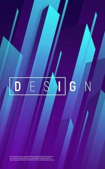 Sfondo geometrico dinamico astratto, copertura minima colorata