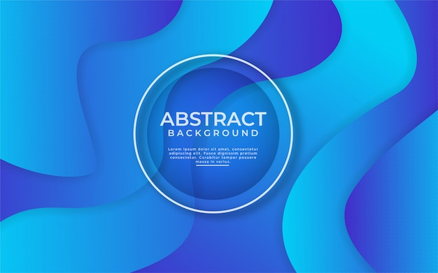 Astratto sfondo blu sfumato dinamico con composizione di forma