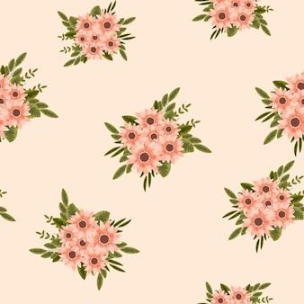 Eleganza astratta seamless pattern fiore sfondo tessuto vestiti