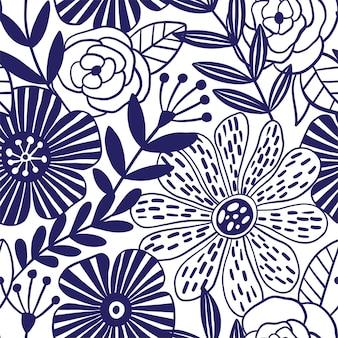 Reticolo senza giunte di eleganza astratta con sfondo floreale. illustrazione vettoriale