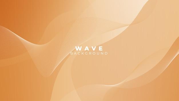 Astratto sfondo elegante con linee fluide onda