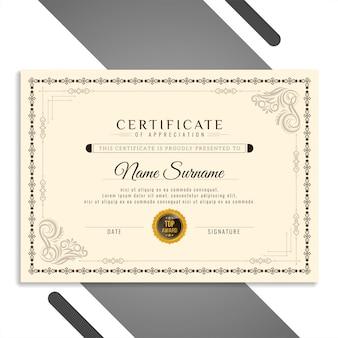 Certificato astratto elegante bello