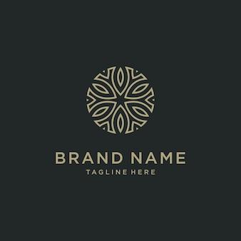 Design elegante astratto di vettore dell'icona di logo del fiore